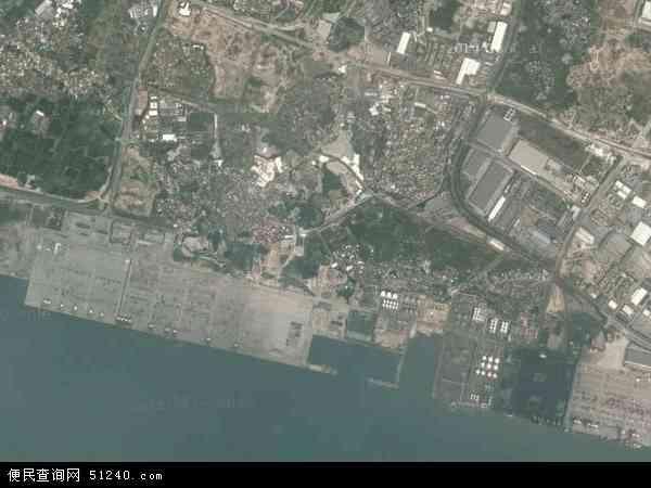 中国福建省厦门市海沧区海沧地图(卫星地图)