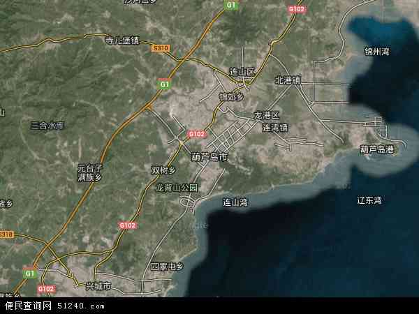 葫芦岛市地图 - 葫芦岛市卫星地图