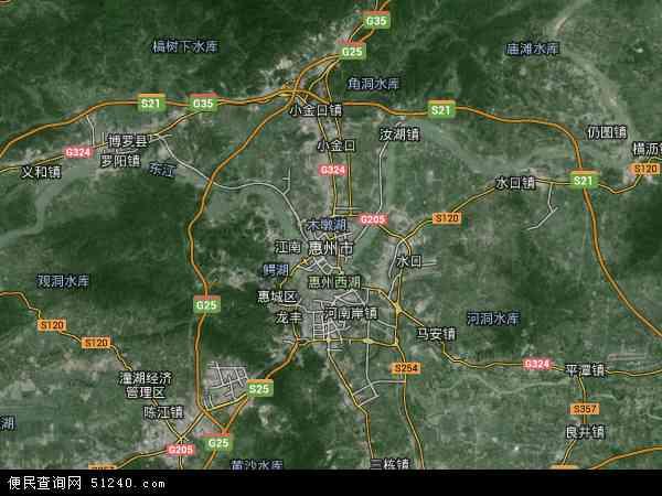 惠州市高清卫星地图