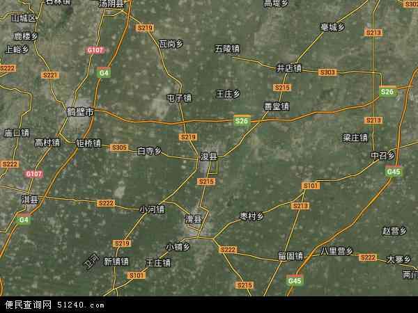 中国河南省鹤壁市浚县浚州地图(卫星地图)