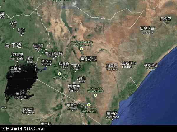 肯尼亚卫星地图 - 肯尼亚高清卫星地图 - 肯尼亚高清航拍地图 - 2016年肯尼亚高清卫星地图