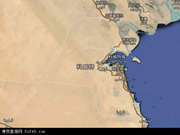 2015科威特卫星地图,科威特北斗卫星地图2016,部分地区可以实现高清