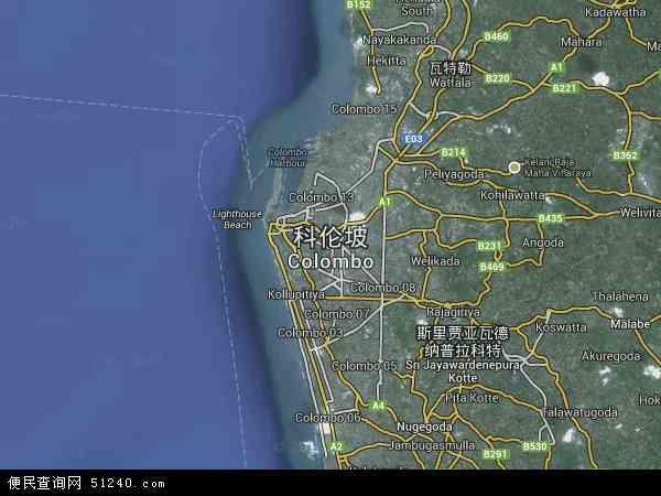 科伦坡卫星地图 - 科伦坡高清卫星地图 - 科伦坡高清航拍地图 - 2018