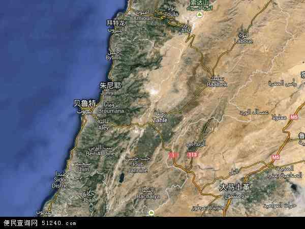 黎巴嫩卫星地图 - 黎巴嫩高清卫星地图 - 黎巴嫩高清航拍地图 - 2016年黎巴嫩高清卫星地图