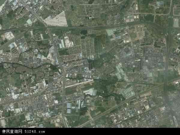 中国广东省东莞市高?镇卢溪村地图(卫星地图)
