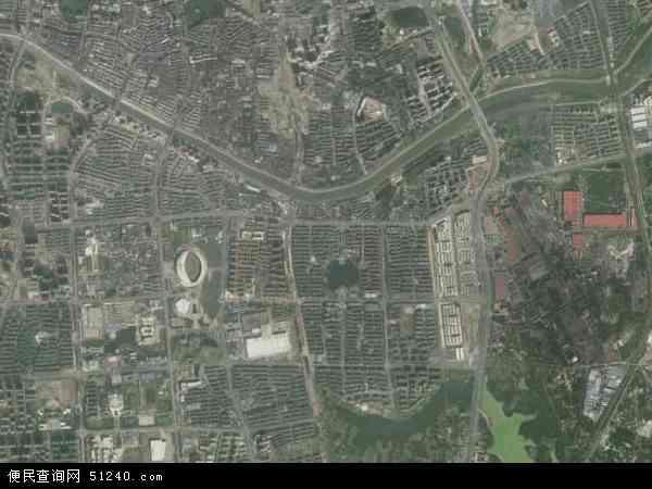 中国安徽省芜湖市弋江区利民路地图(卫星地图)