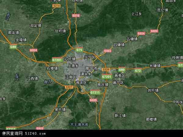 南宁市地图 - 南宁市卫星地图