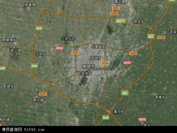 南阳市高清卫星地图 南阳市2018年卫星地图 中国河南省南阳市地图
