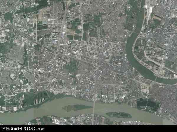 中国广东省揭阳市揭东区磐东地图(卫星地图)