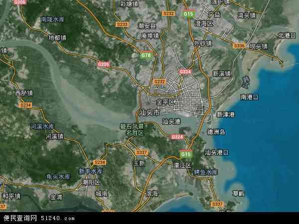 汕头市地图 - 汕头市卫星地图