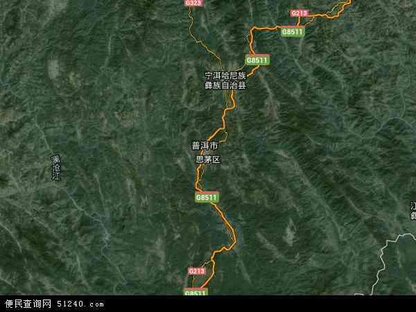 思茅区地图 - 思茅区卫星地图 - 思茅区高清航拍