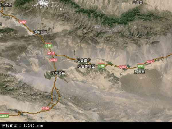 吐鲁番市地图 - 吐鲁番市卫星地图