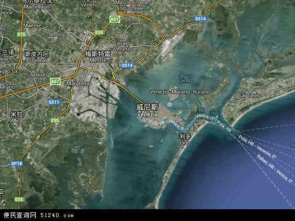威尼斯地图 - 威尼斯卫星地图