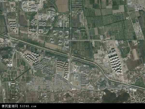 中国北京市海淀区温泉地图(卫星地图)