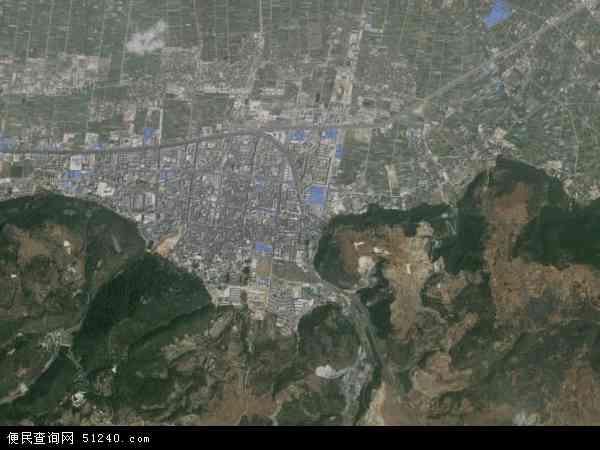 中国云南省玉溪市通海县秀山地图(卫星地图)