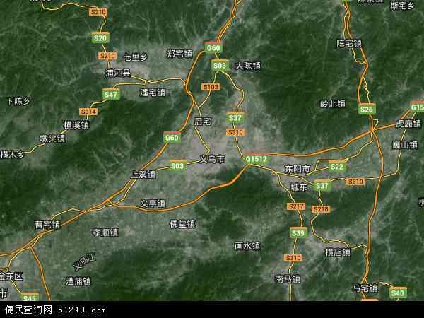 义乌市地图 义乌市卫星地图 义乌市高清航拍地图 义乌市高清卫星地图