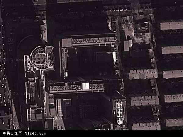 中国北京市海淀区燕园地图(卫星地图)