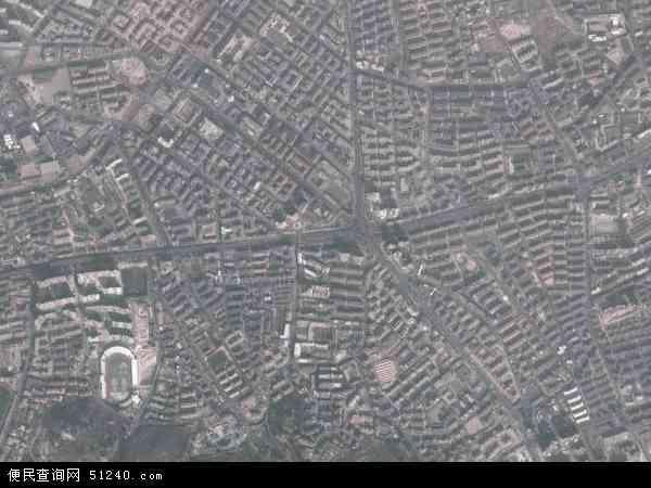 中国山东省青岛市市北区延安路地图(卫星地图)