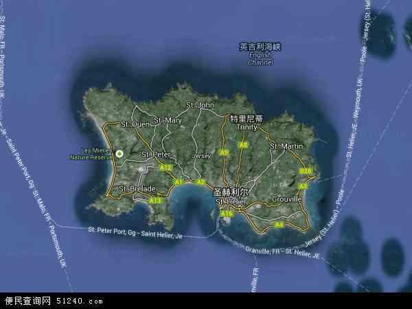 泽西岛卫星地图 - 泽西岛高清卫星地图 - 泽西岛高清航拍地图 - 2016