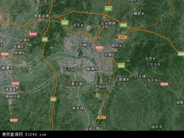 株洲市地图 - 株洲市卫星地图