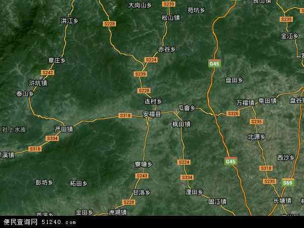 安福县高清卫星地图 安福县2018年卫星地图 中国江西省吉安市安福