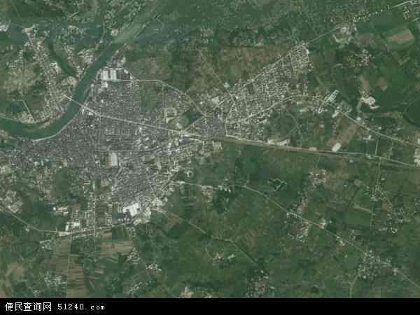 中国广东省湛江市廉江市安铺镇地图(卫星地图)