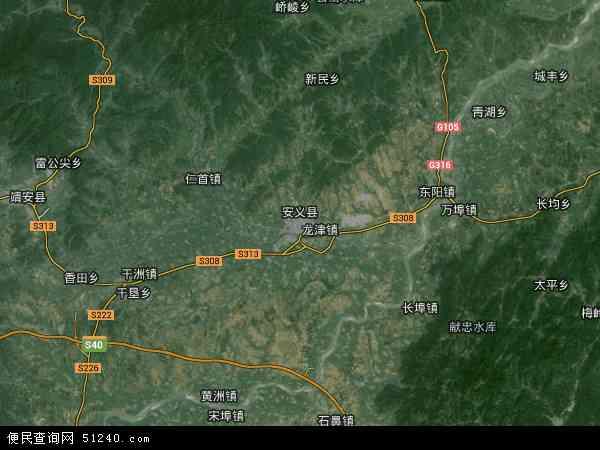 安义县地图 - 安义县卫星地图