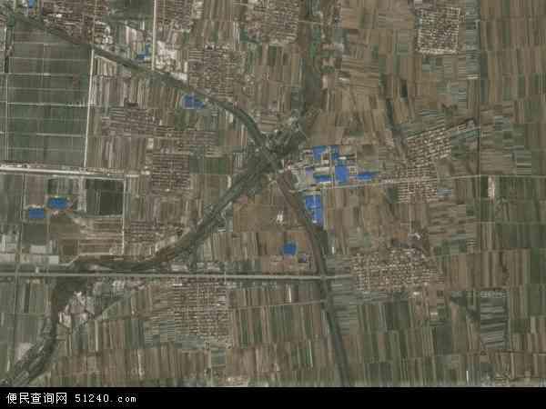 中国山东省青岛市平度市白沙河地图(卫星地图)