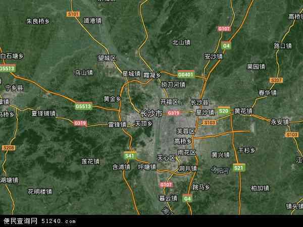 长沙市地图 长沙市卫星地图 长沙市高清航拍地图 长沙市高清卫星地图 图片
