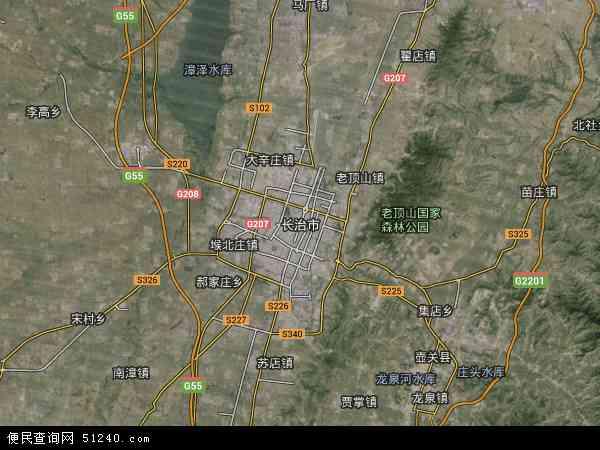 长治市高清卫星地图 长治市2016年卫星地图 中国山西省长治市地图
