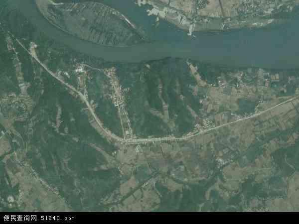 中国湖北省襄阳市谷城县茨河镇地图(卫星地图)