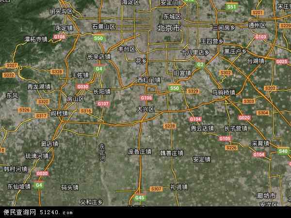大兴区地图 - 大兴区卫星地图