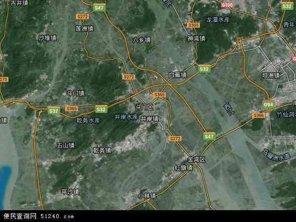 斗门区卫星-斗门区地图图纸-斗门区线路航拍kv10架空地图高清设计图片