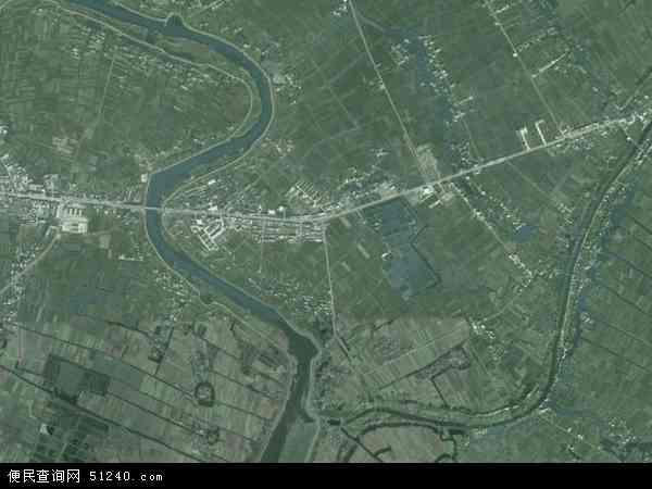 中国安徽省芜湖市无为县福渡镇地图(卫星地图)