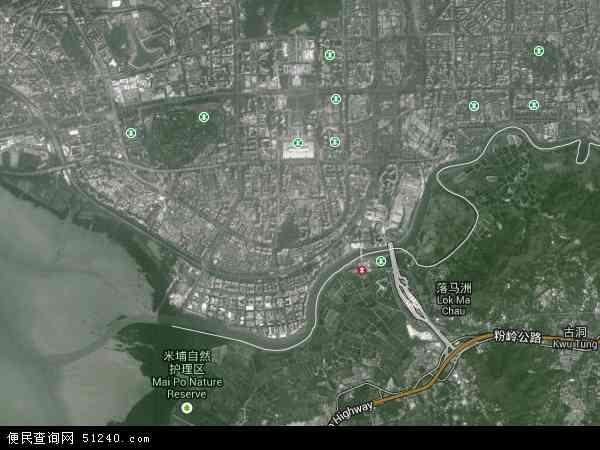 福田区地图 - 福田区卫星地图