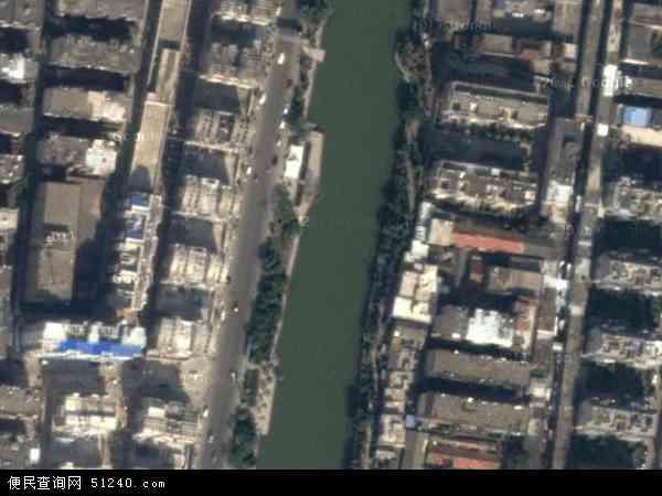 中国安徽省阜阳市颍州区鼓楼地图(卫星地图)