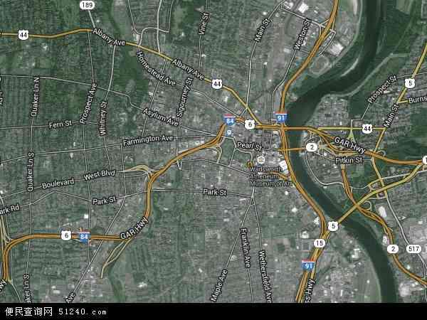 2015年哈特福德高清卫星地图