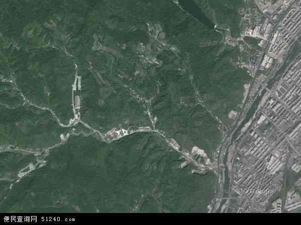 中国吉林省白山市浑江区江北地图(卫星地图)