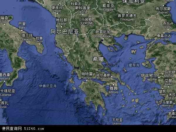 希腊基克拉迪地图(卫星地图)