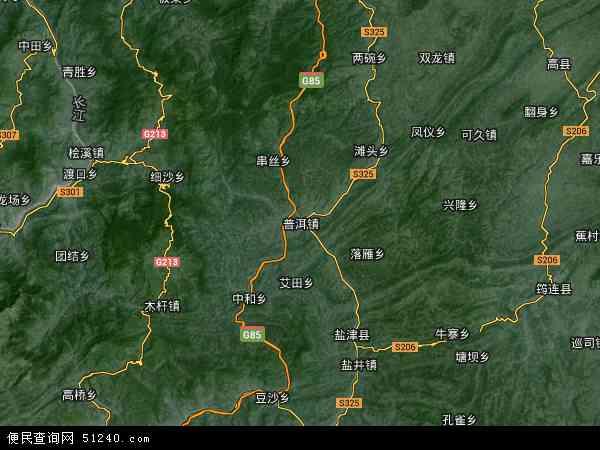 云南省地图 云南省卫星地图 云南省高清航拍地图图片
