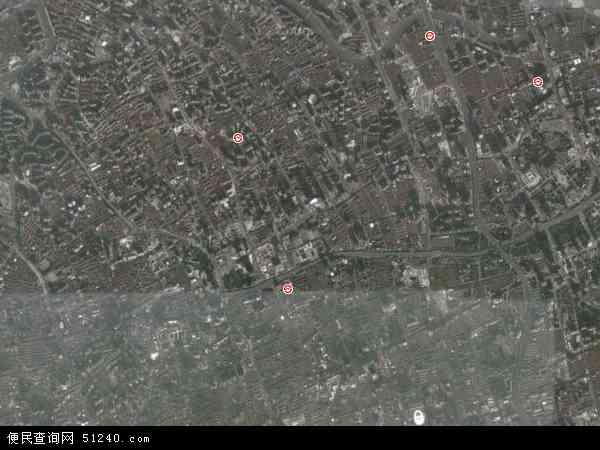 中国上海市静安区地图(卫星地图)
