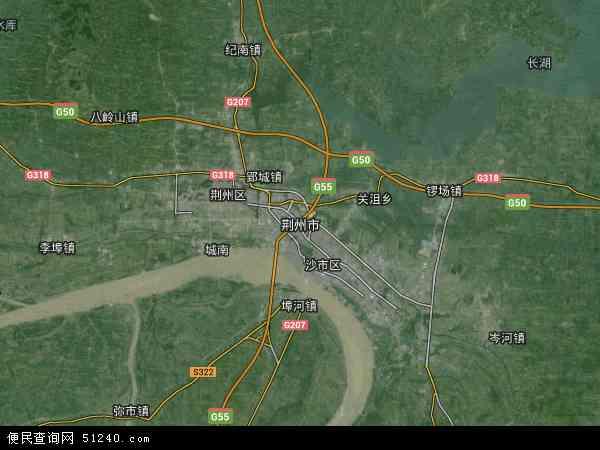 荆州市地图 荆州市卫星地图 荆州市高清航拍地图 荆州市高清卫星地图 高清图片