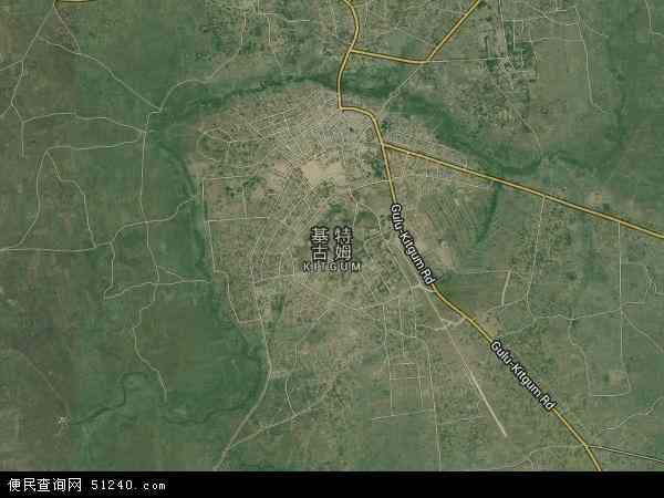乌干达基特古姆地图(卫星地图)