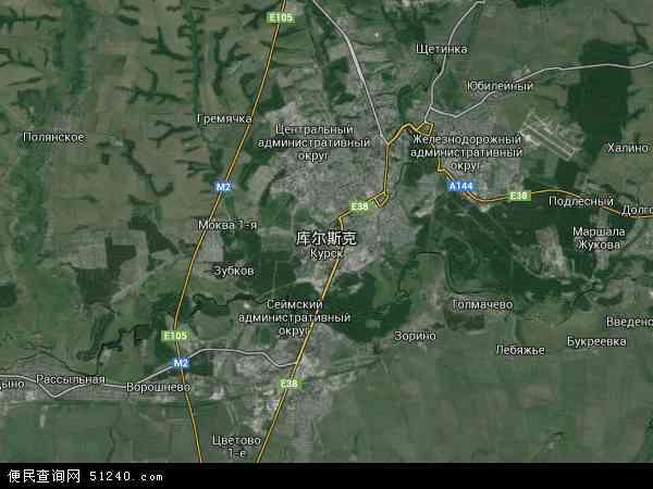 俄罗斯库尔斯克地图(卫星地图)