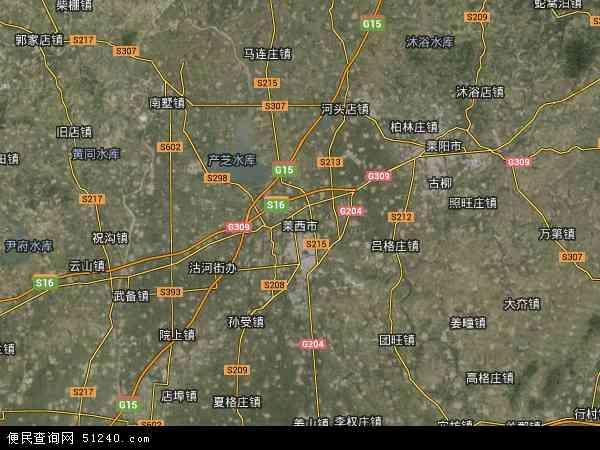 莱西卫星地图_中国地图图片
