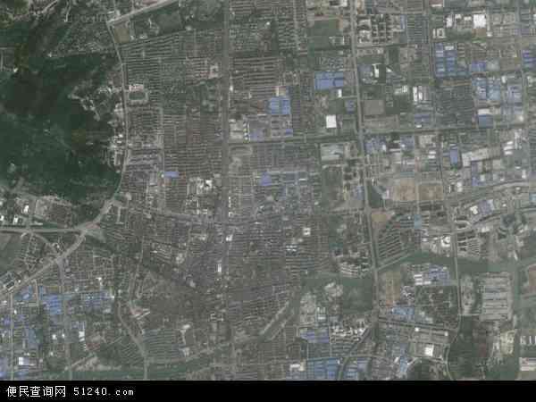 中国江苏省苏州市吴中区木渎镇地图(卫星地图)