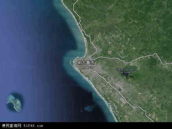 印度尼西亚明古鲁地图(卫星地图)