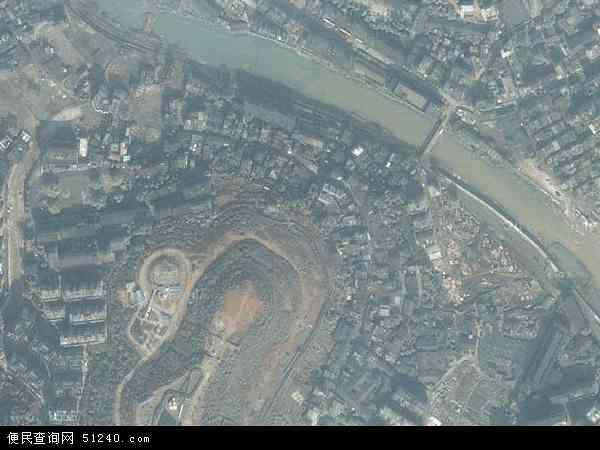 中国湖南省郴州市苏仙区南塔地图(卫星地图)