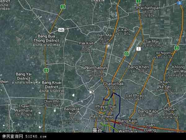 泰国暖武里地图(卫星地图)