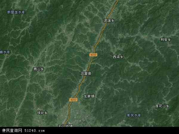 中国安徽省池州市东至县泥溪镇地图(卫星地图)